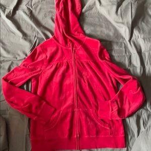 Old Navy red velour hoodie